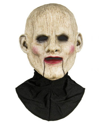 Silicone half mask ventriloquist's dummy