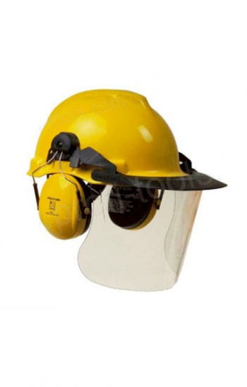 Bauhelm yellow with noise