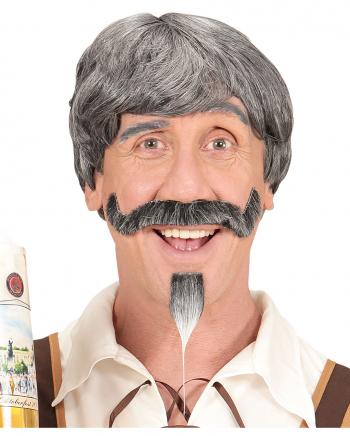 Bayer Männerperücke mit Schnäuzer & Kinnbart