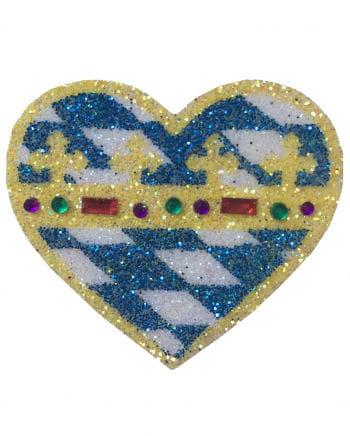 Bayern Glitter Heart Tattoo