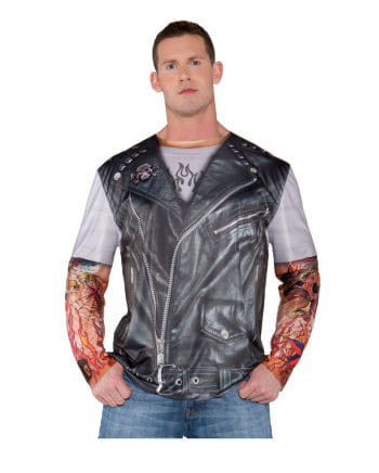 Biker shirt with photo print