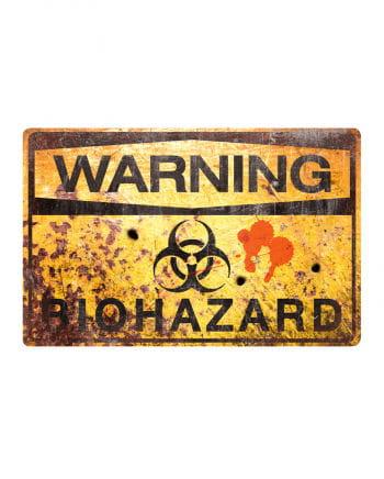Biohazard metal plate