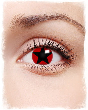 Black Star on Red Kontaktlinse