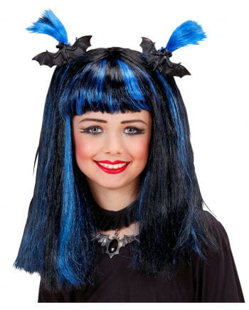 Halloween child wig blue