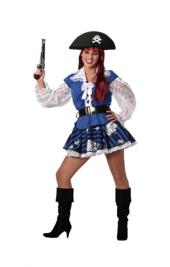 Blue Pirate Lady Costume Plus Size