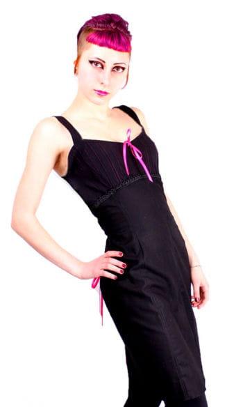 Pencil dress black pink