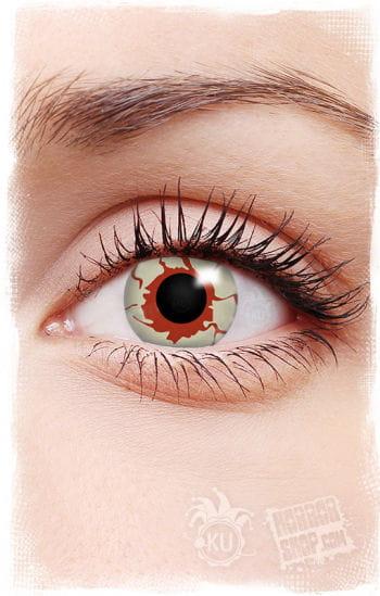 Blutunterlaufene Kontaktlinsen