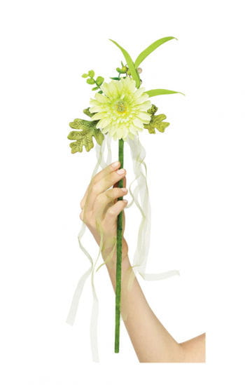 Flower fairy wand white
