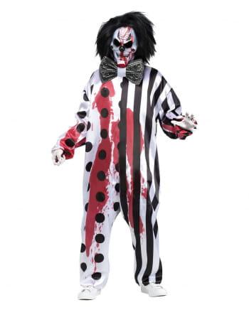 Blutender Clown Kostüm mit Maske