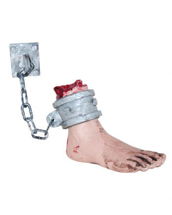 Bloody foot at dungeon chain