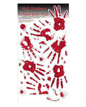 Bloody Handprints & Footprints Wall Decoration