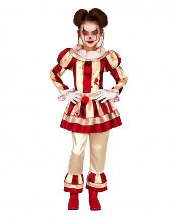 Blutiges Clownsmädchen Kinder Kostüm