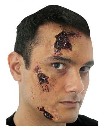 3 Piece Set bloody scars