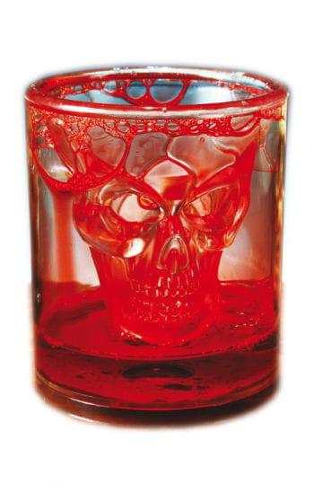 Blutiges Totenschädel Glas