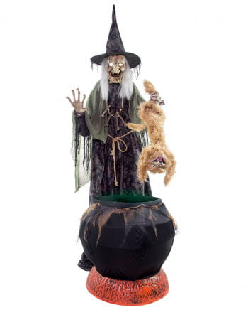 Wicked Fairy Witch With Cat Animatronic