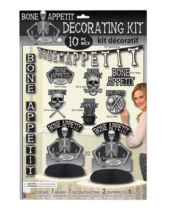 Bone Appetit Dekorations Set 10 teilig