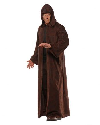 Braun-schwarz melierter Kostüm Mantel mit Kapuze