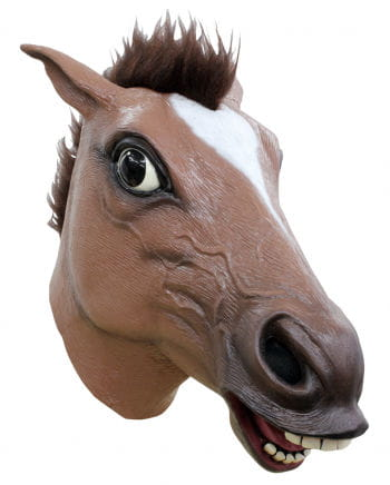 Brown Horse Mask With Hair