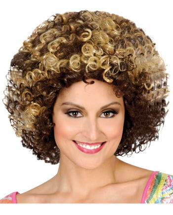 Disco Afro wig blonde / brown