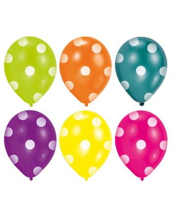 Bunte Dots Ballons 6 St.