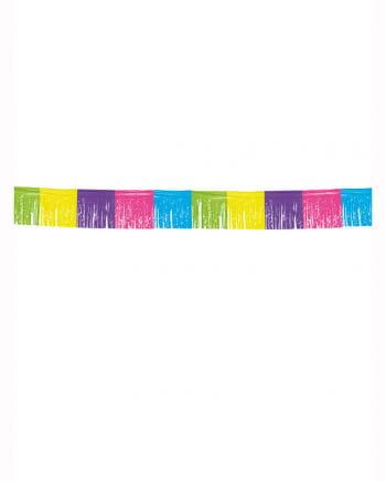 Fransen Wimpelkette colorful 10m