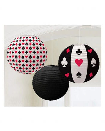 casino lampions 3 stk mottoparty dekoration horror. Black Bedroom Furniture Sets. Home Design Ideas