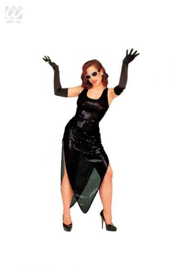 Celebrity Sequin Dress Black