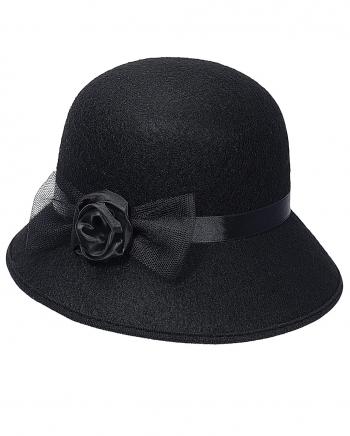 Gangsterhut Black /& White CAPPELLINO CARNEVALE