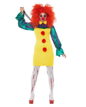 Classic Horror-Clown Ladies Costume