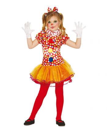 Clown Ballerina Mädchenkostüm