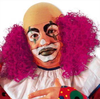 Clown Wig with Berry Red Hair