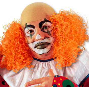 Clown Wig with Orange Hair