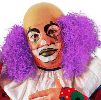 Clown Wig with Purple Hair