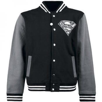 College Jacke Superman schwarz