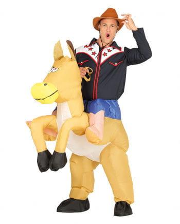 Cowboy Piggyback Costume Inflatable