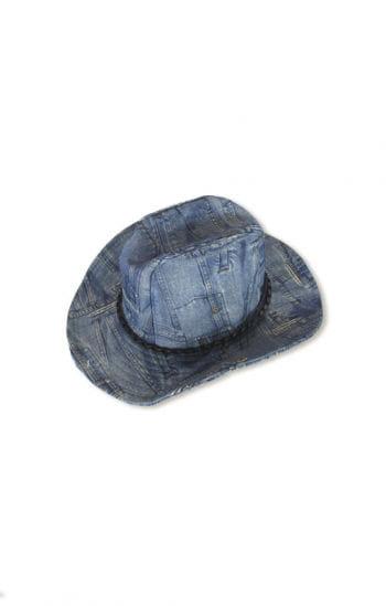 Cowboy Hat Jeanslook Blue