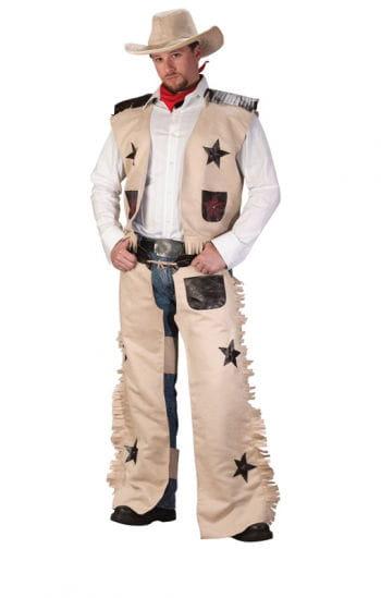 Cowboy Kostüm Beige 4-teilig