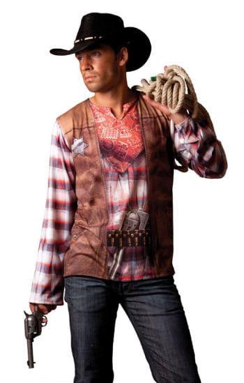cowboy t shirt t shirt eines cowboys f r m nner horror. Black Bedroom Furniture Sets. Home Design Ideas