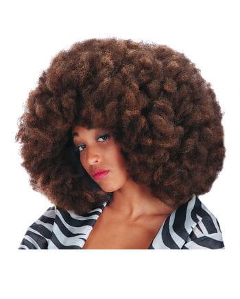 Crazy Disco Afro Wig coffee heather
