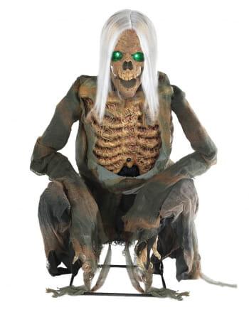 Kniehender Skelett Reaper Animatronic mit Sound