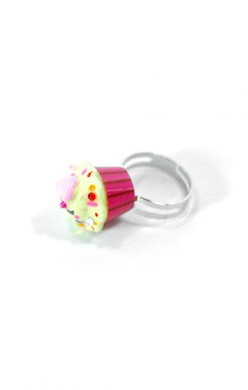 Cupcake Ring Pink Gelb