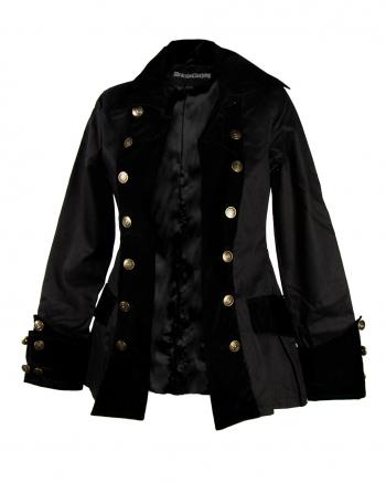 Damen Piratenjacke schwarz