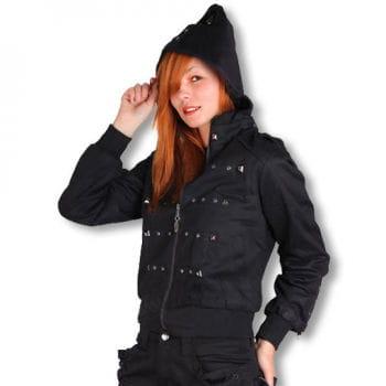 Ladies biker jacket with studs L / 40