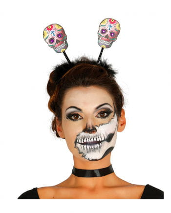 Day Of The Dead Hairpin With Skulls