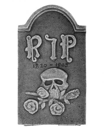 Grave stone RIP with Skull and Rose