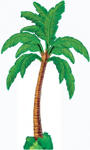 Palm trees decoration made of cardboard