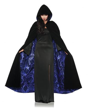 Deluxe Kapuzenumhang schwarz-violett
