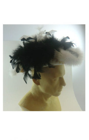 Pirate Lady Feather Hat Black / White