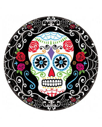 Papp Plates Dia De Los Muertos 10 Pcs