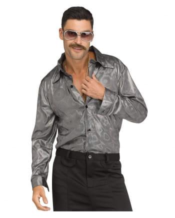 disco hemd herren silber 60er jahre verkleidung horror. Black Bedroom Furniture Sets. Home Design Ideas
